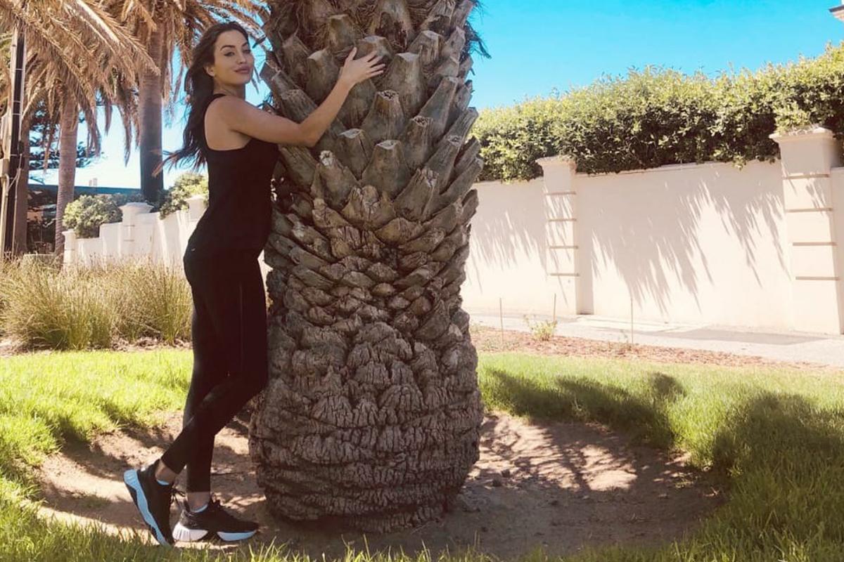 Miss World South Australia Lucinda Nicholas is elated by Hug A Tree Challenge