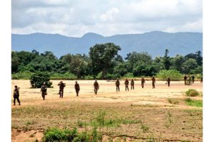 Women clash with BSF personnel at Jalangi