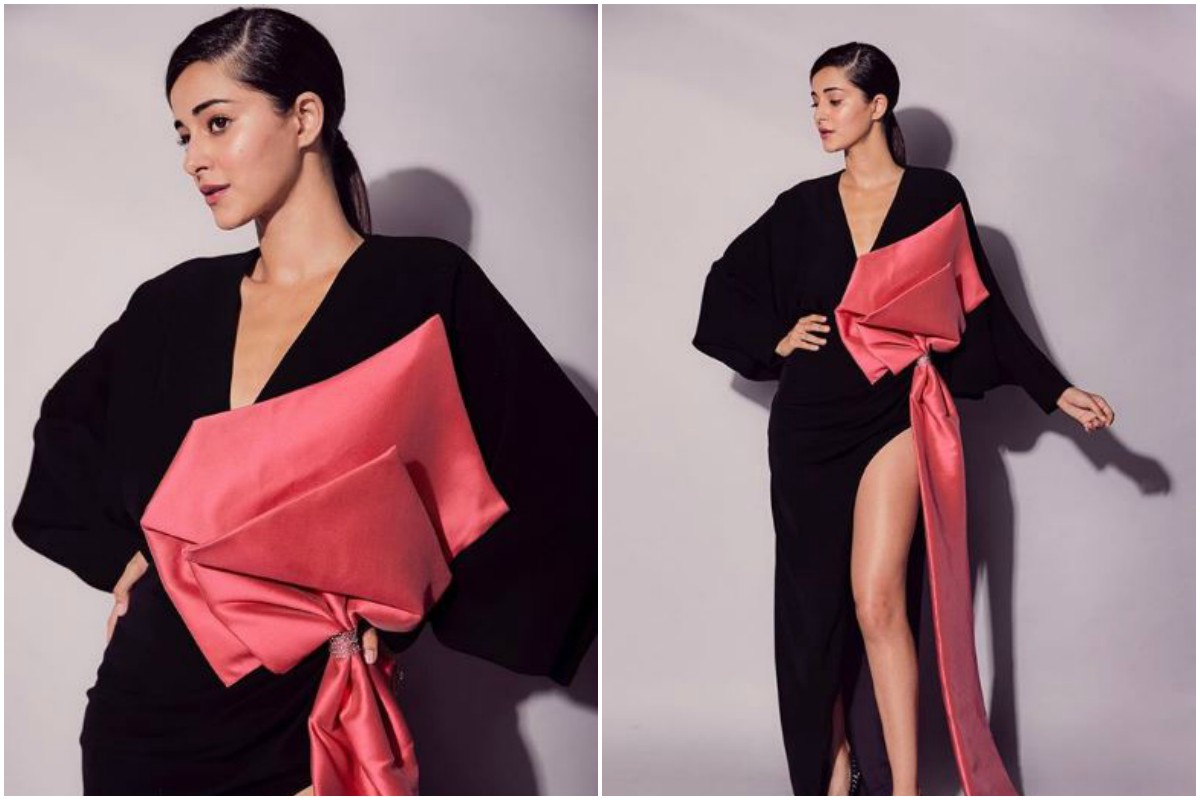 Ananya Panday's black and pink gown is perfect for your bachelorette party; see pics