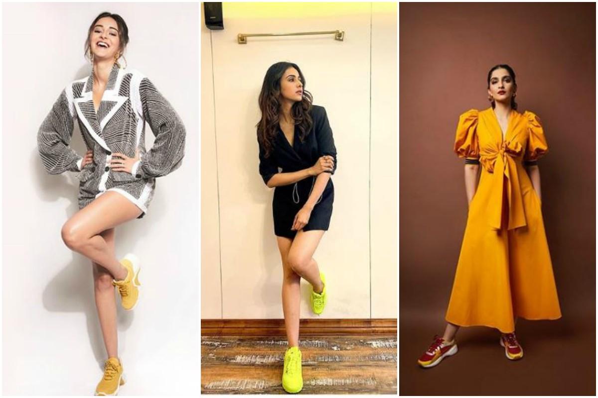 Chunky Sneaker Look, Sneakers, Ananya Panday, Alia Bhatt, Kiara Advani, Rakul Preet Singh, Sonam Kapoor Ahuja