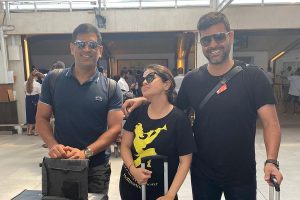 WATCH   MS Dhoni spotted in Maldives with recently-elected CAC member RP Singh