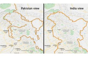 Kashmir redrawn and marked as 'disputed' on Google Maps for people outside India