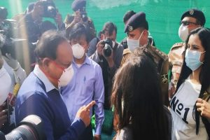 Health Minister Harsh Vardhan meets first batch of Indians who came from Wuhan