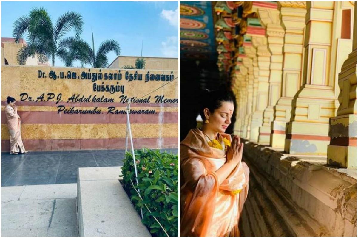 Kangana Ranaut visits Rameshwaram, pays tribute to Late Dr APJ Abdul Kalam, See pics