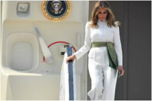 Melania Trump looks dazzling in white jumpsuit on first India visit