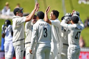 New Zealand cricketers engage in traditional celebration post Welligton-Test victory against India