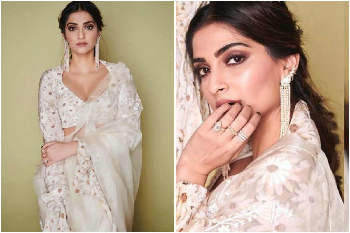 Sonam Kapoor looks ravishing as she opts for Masaba Gupta x Rhea Kapoor organza saree