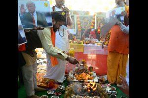 Hindu Sena organises 'Vishwa Shanti Yagya' on Donald Trump's visit