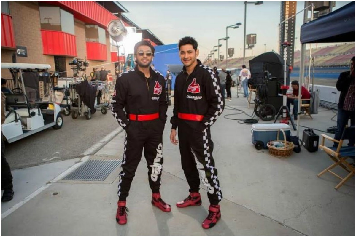 Superstars Mahesh Babu and Ranveer Singh join hands for an ad shoot