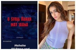 Shraddha Kapoor's 'O Stree' gets twist with advise for everyone to stay safe from Coronavirus