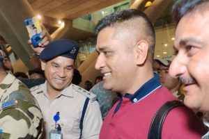 Just start the whistles, says CSK as MS Dhoni arrives in Chennai