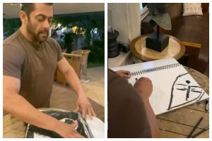 Coronavirus lockdown: Salman Khan shares his creativity, gifts it to fans