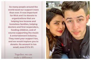 Priyanka Chopra, Nick Jonas donate for COVID-19 charities, urge fans to support