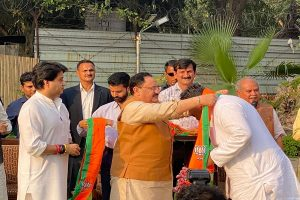 22 rebel Madhya Pradesh Congress MLAs join BJP in presence of Jyotiraditya Scindia
