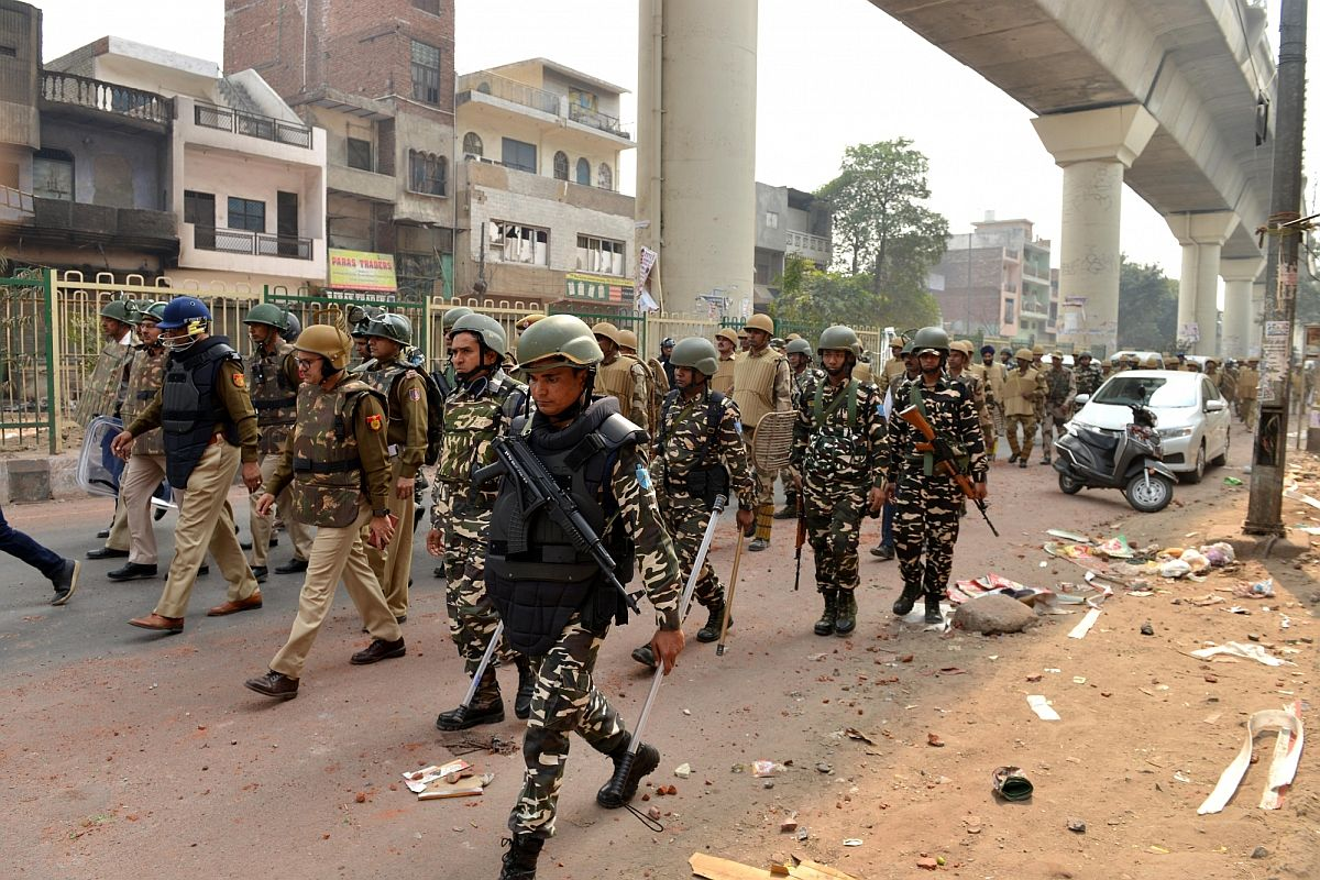 Security beefed up in northeast Delhi ahead of Holi festival tomorrow