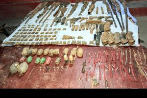 Indian Army and Assam Police jointly bust huge cache of illegal arms