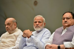 With Narendra Modi at helm, BJP top brass meets to discuss Rajya Sabha elections