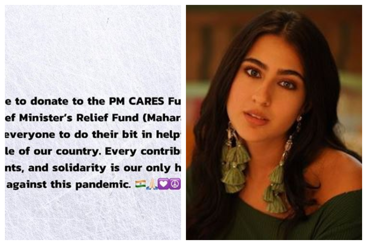Sara Ali Khan donates for COVID-19, becomes youngest actor to pledge for it