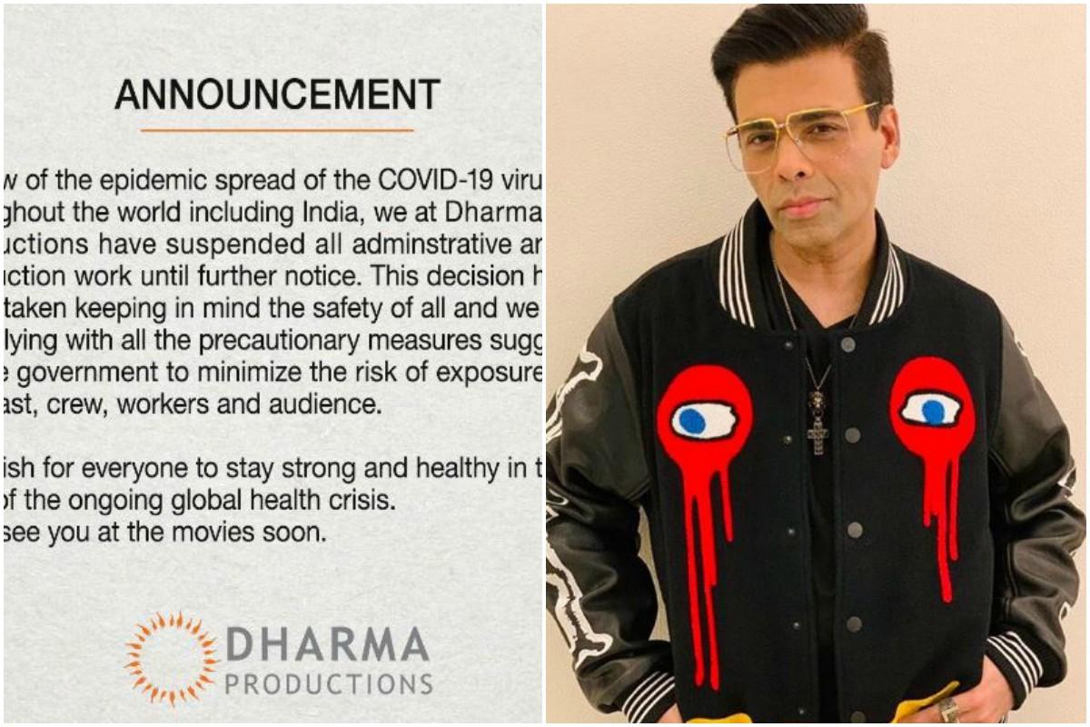 Coronavirus outbreak, Karan Johar, Dharma Productions