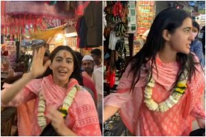 Watch | Sara Ali Khan turns tourist guide for her fans in Varanasi
