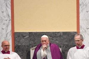 As Italy battles Coronavirus, Pope Francis skips event after seen coughing
