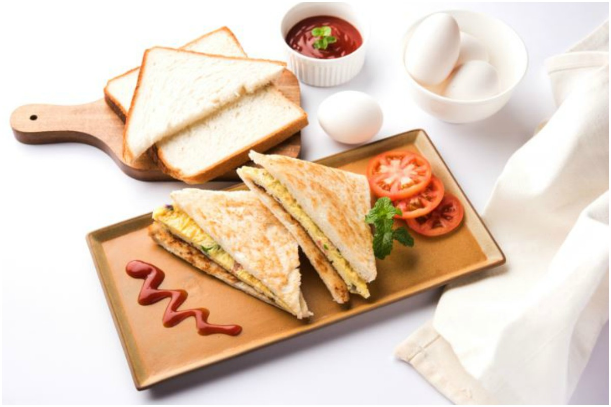 Vegetable Omelette Sandwich, Tea time, easy to make sandwich