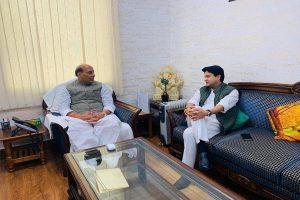 Jyotiraditya Scindia meets senior BJP leaders Amit Shah, Rajnath Singh day after joining the party