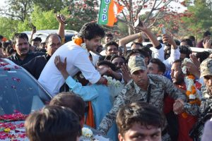 Jyotiraditya Scindia files nomination for Rajya Sabha elections on BJP ticket