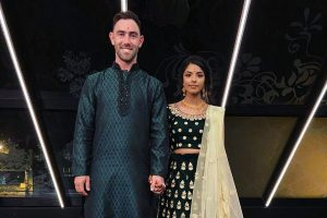 Glenn Maxwell goes all Indian in engagement to Vini Raman