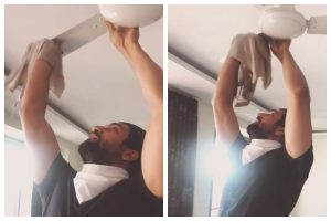 Coronavirus impact: After Katrina Kaif, Vicky Kaushal shares video of him cleaning ceiling fan
