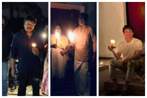 Coronavirus pandemic: South celebs light candles to extend support to PM Modi's #9Baje9Minutes initiative