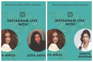 Dia Mirza's #DownToEarthWithDee session reveals Zoya Akhtar and Shreya Ghoshal's love for nature