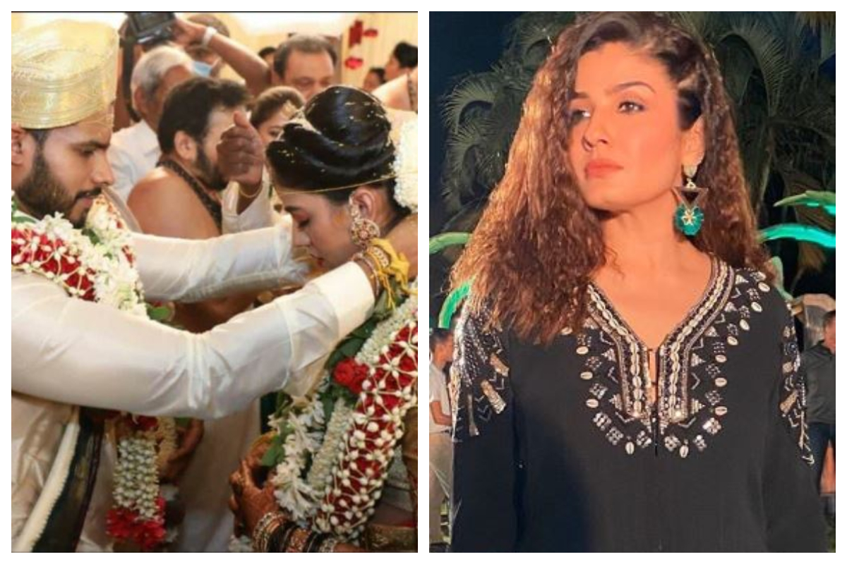Raveena Tandon, Nikhil Kumaraswamy wedding, Nikhil Kumaraswamy, HD Kumaraswamy