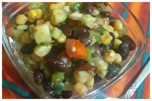 How to make Kidney Beans and Chickpeas Chaat?