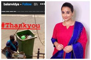 Vidya Balan thanks local sweeper for working amidst COVID-19