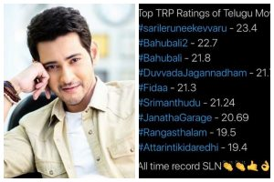 Superstar Mahesh Babu's 'Sarileru Neekevvaru' breaks records, scores highest TVR on small screen