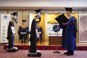 Students at Japan's BBT varsity virtually graduate using robots and tablets amid COVID-19