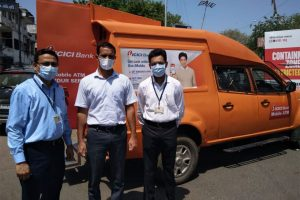 COVID-19 lockdown: ICICI bank deploys mobile ATM vans in Ahmedabad city