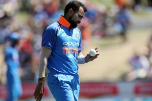 Mohammed Shami gets bowling practice at his farmhouse