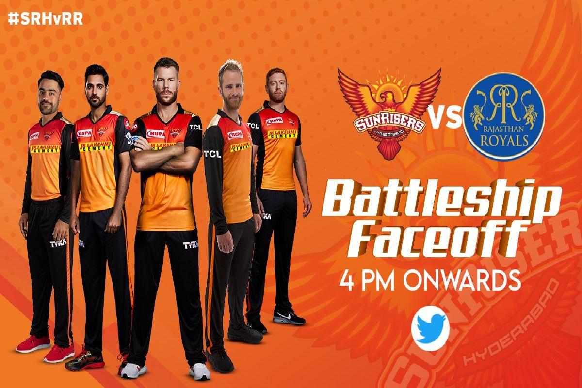 Sunrisers Hyderabad, Rajasthan Royals, Indian Premier League, IPL, IPL 2020, COVID-19, Coronavirus