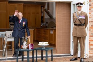 UK World War veteran who raised millions for healthcare workers turns 100