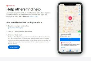 Apple Maps will soon show COVID-19 testing sites