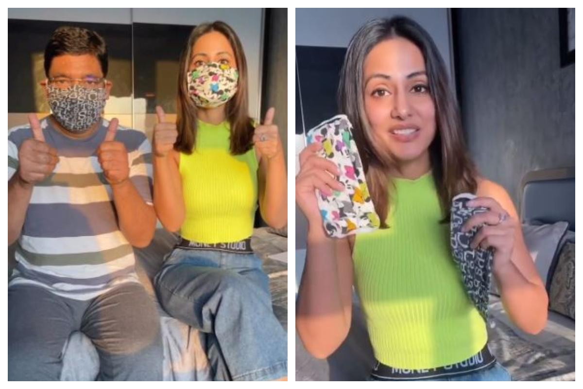 Hina Khan, Face masks