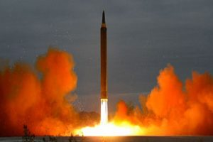 North Korea fires missiles on eve of founder's b'day
