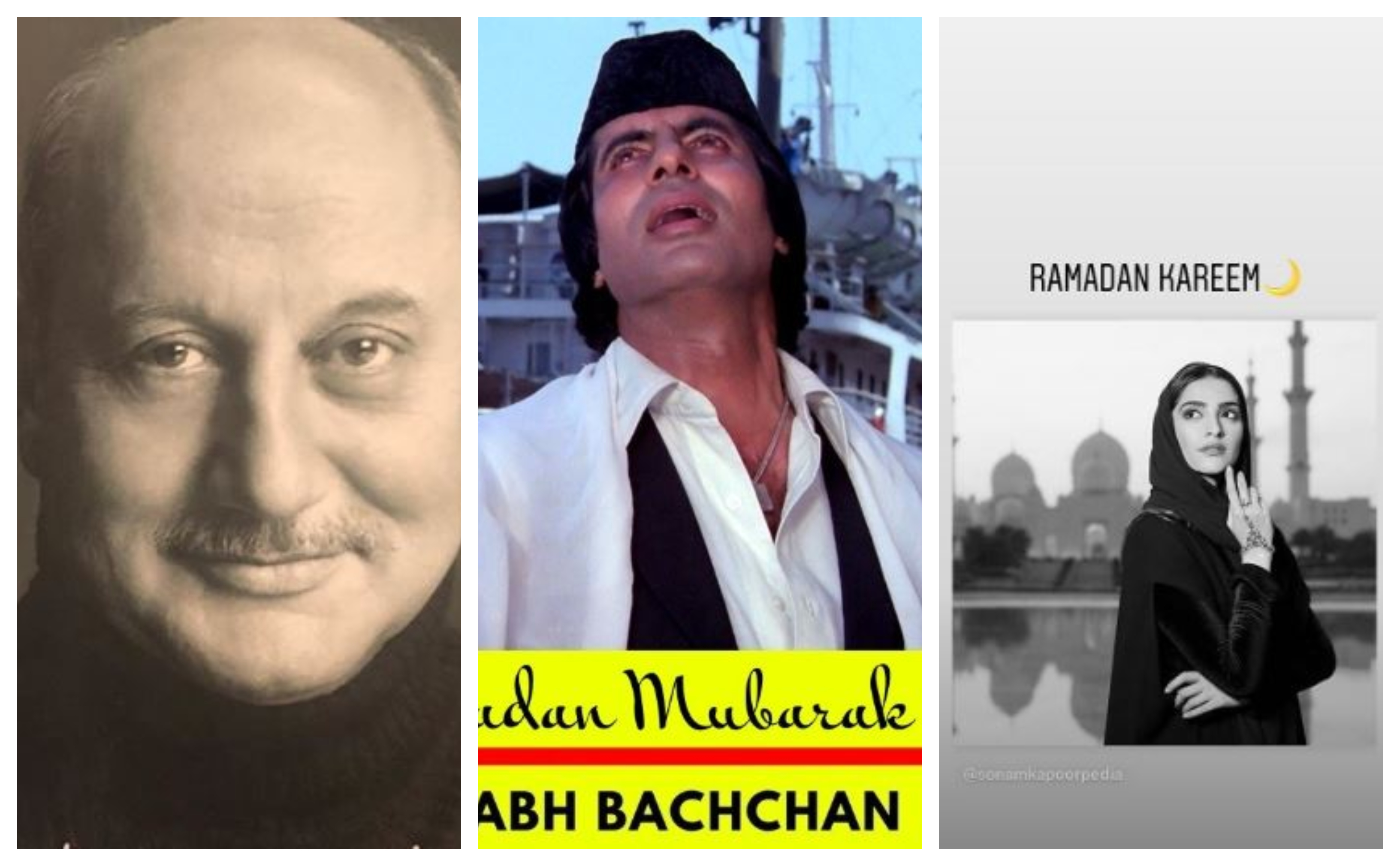 Amitabh Bachchan, Anupam Kher, Ramadan Mubarak