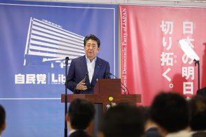 Abe confronts corona