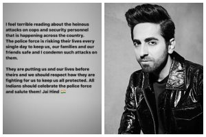 COVID-19: Ayushmann Khurrana condemns attacks on police personnel on lockdown duty
