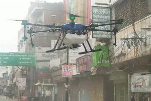 COVID-19 disinfection through specially designed drone in Varanasi