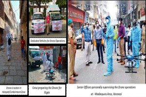 Varanasi uses drones to sanitize COVID-19 affected sensitive areas