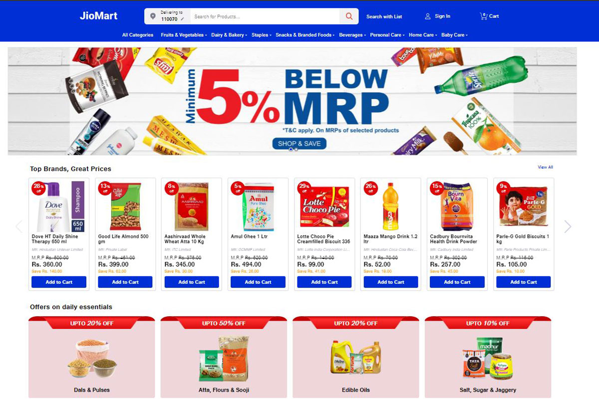 JioMart, e-commerce, Flipkart, Amazon, Reliance industries